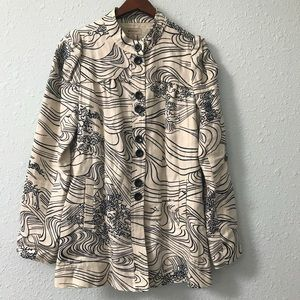 Anthropologie Elevenses linen blend jacket size 10
